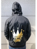 Crown Windrunner Jacket by BSAT BlackNGolden