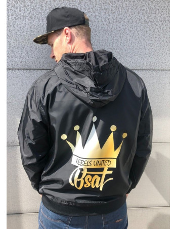 Crown Windrunner Jacket by BSAT BlackNGolden