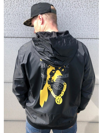 Pitbos Ultimate League Windrunner Jacket BlackNYellow