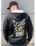 Rebels Hood Windrunner Jacket by BSAT BlackNWhite