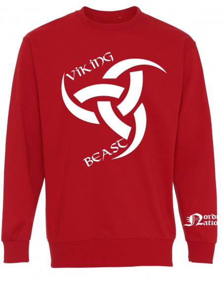 Viking Beast Odins Horn Sweatshirt Red