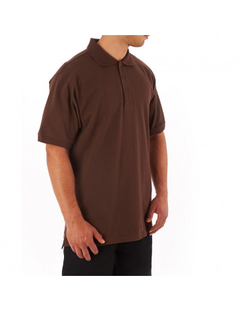 Access Plain Polo Brown