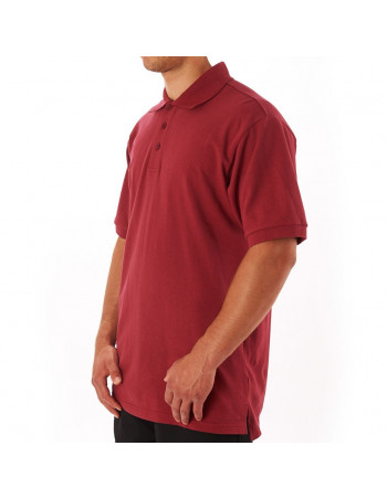 Access Plain Polo Burgundy