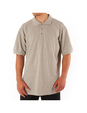 Access Plain Polo Light Grey