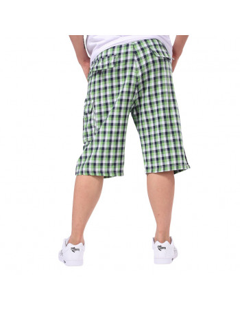 L.A. Plaid Green Shorts med bælte