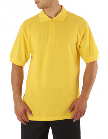 Access Plain Polo Yellow