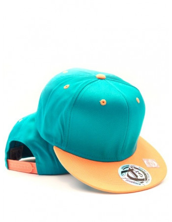 Townz Snapback Cap turkis/orange