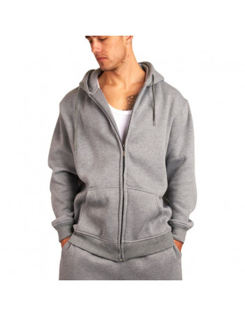 Townz Zip Grey Plain Hoody