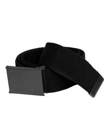 Urban Classics Canvas Belts black one size