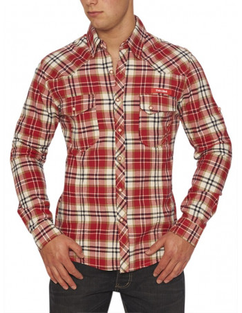 Escobar Shirt Plaid Red