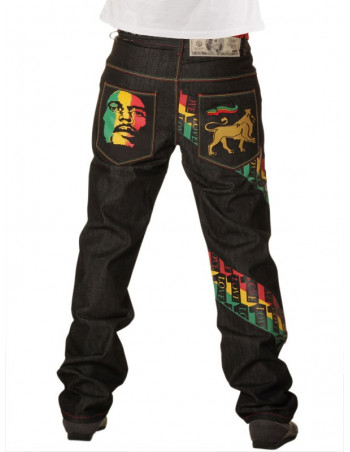 Dirty Money One Love Rasta Baggy Premium Jeans