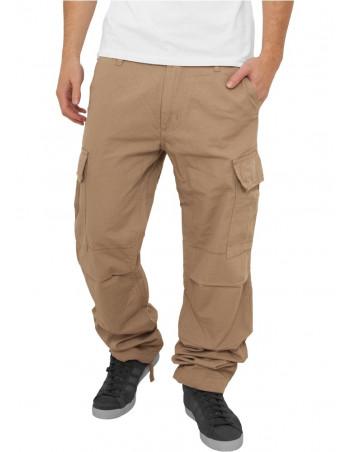 Urban Camouflage Cargo Pants Beige