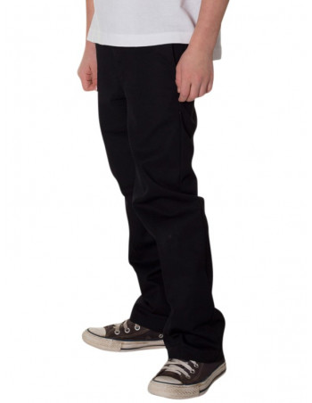 Kids Access Work Pants Chino Black