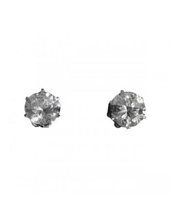 Earring / Ørestikker, Diamond 6mm