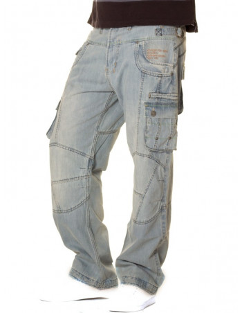 Brooklyn Mint Conflict Cargo Combat Light jeans
