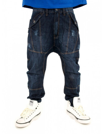 Premium Streetwear Extra Drop Crotch Carrot Jeans