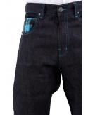 Dirty Money Scottish Navy Check Jeans