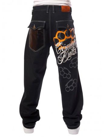 Criminal Mindz Black Baggy Jeans
