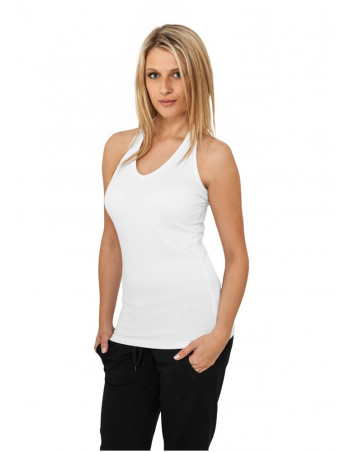 Ladies Neckholder Shirt white