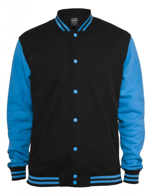 Urban Kids 2-tone College Sweatjacket blk/tur