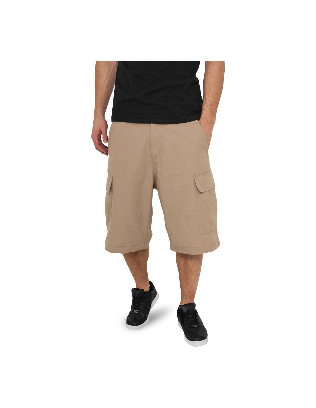 Urban Camouflage Cargo Shorts beige