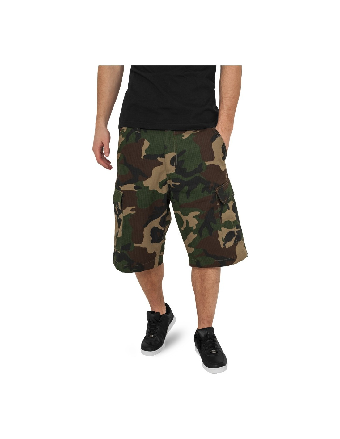 Urban Camouflage Cargo Shorts wood camo