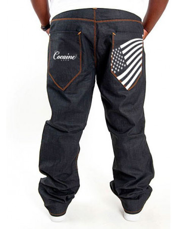 Cocaine Life Stars & Stripes Hunter Jeans Raw Denim