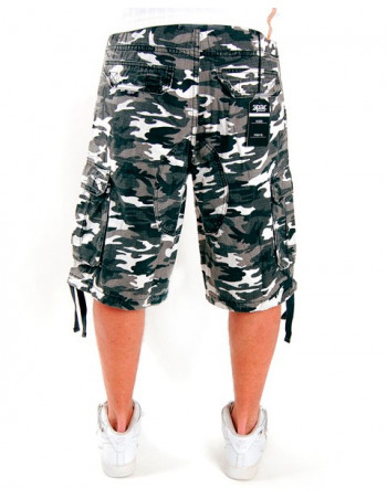 2-Pac Cargo Shorts White Camo Enemy