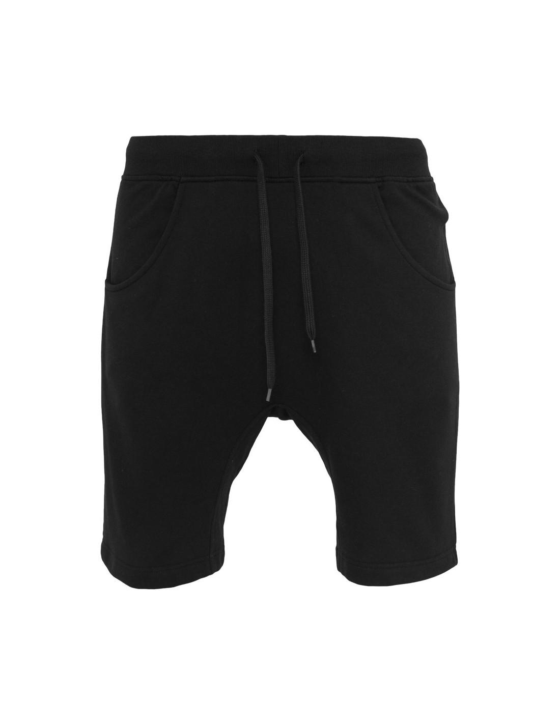 Urban Drop Crotch Sweat Shorts Black