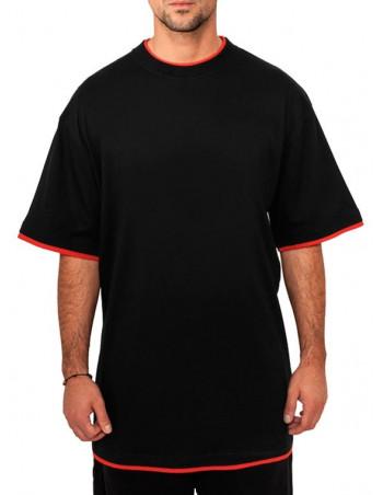 Urban 2-tone t-shirt black / red