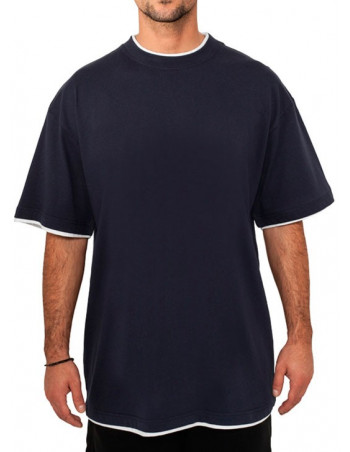 Urban 2-tone t-shirt navy / white