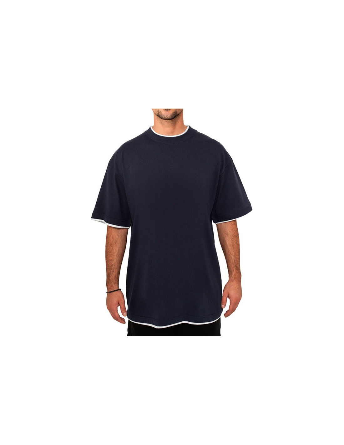 Urban 2-tone t-shirt navy / white