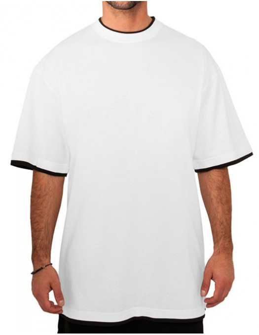 Urban 2-tone t-shirt white / black