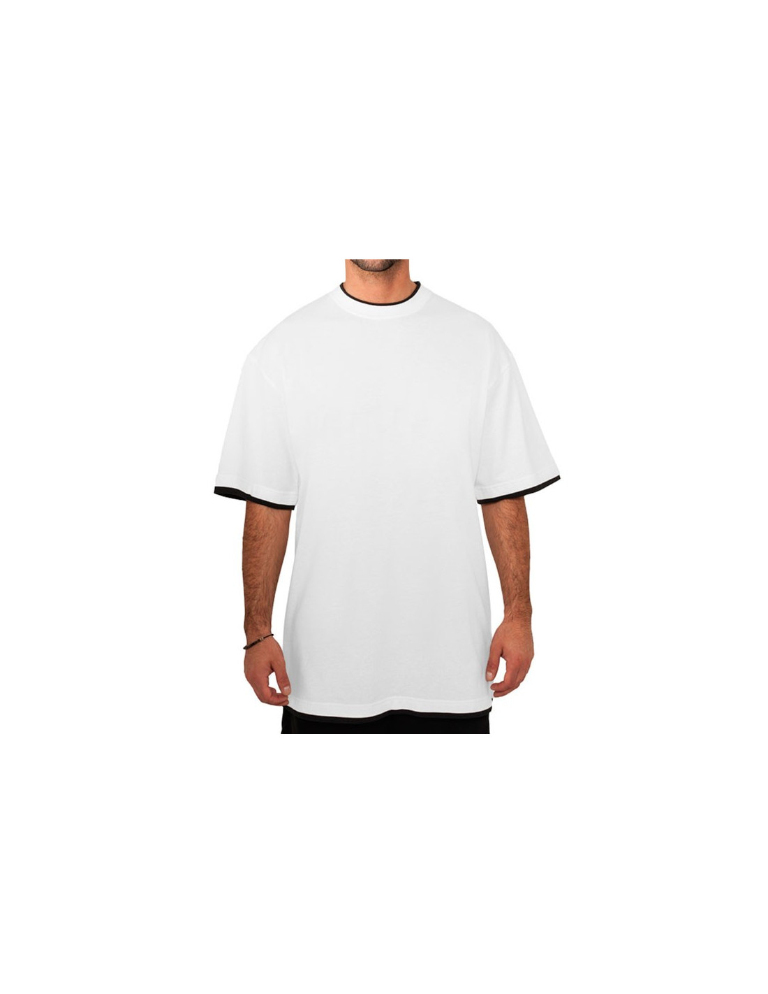 Urban 2 tone t shirt white black for Who makes the best white t shirts