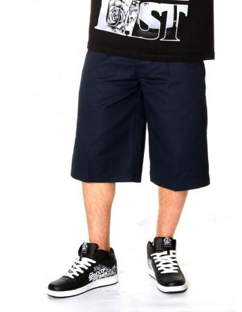 Access Baggy Plain Chino Shorts Navy