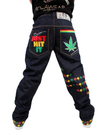 Dirty Money Baggy Rasta Marijuana Leaf Just Hit It Kush