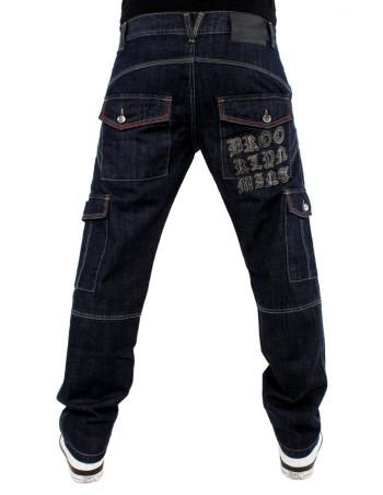 Brooklyn Mint Grip Cargo Denim Jeans