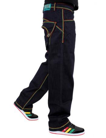 Brooklyn Mint Rasta Super Thick Stitch Jeans