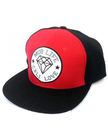 Mob Inc Laces Black Red Cap