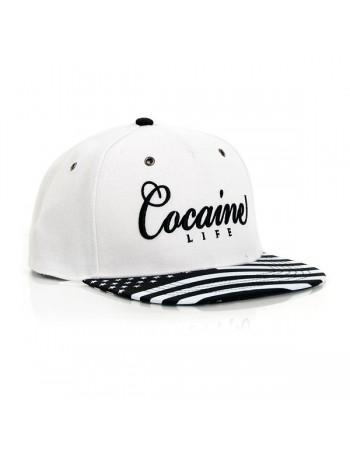 Cocaine Life Stars White snapback