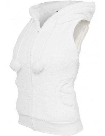 Ladies Teddy Vest White