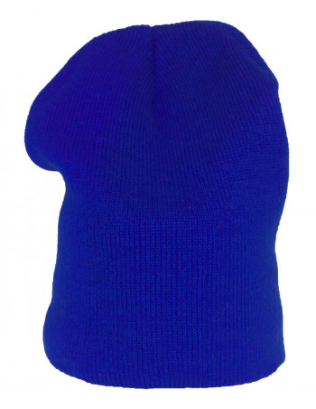 One coloured Identity Beanie/NeonBlue