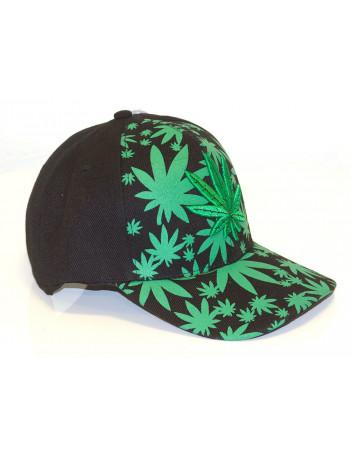 Identity Weed Baseball Cap/Black