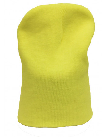 One coloured Identity Beanie/NeonYellow