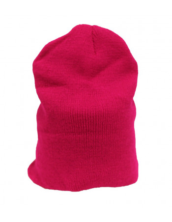One coloured Identity Beanie/Fuchsia Red