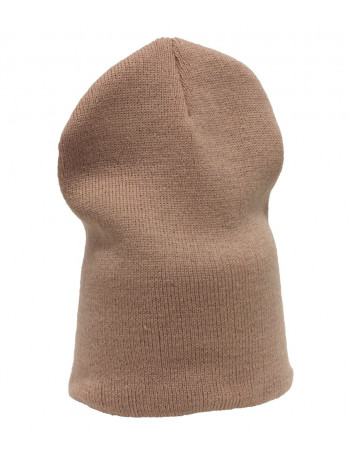 One coloured Identity Beanie/Khaki