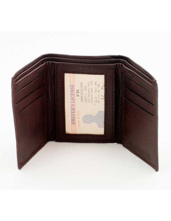 Leather Wallet/Tri-Fold Brown